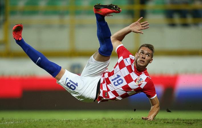 Marko Pjaca, con la camiseta de la selección croata